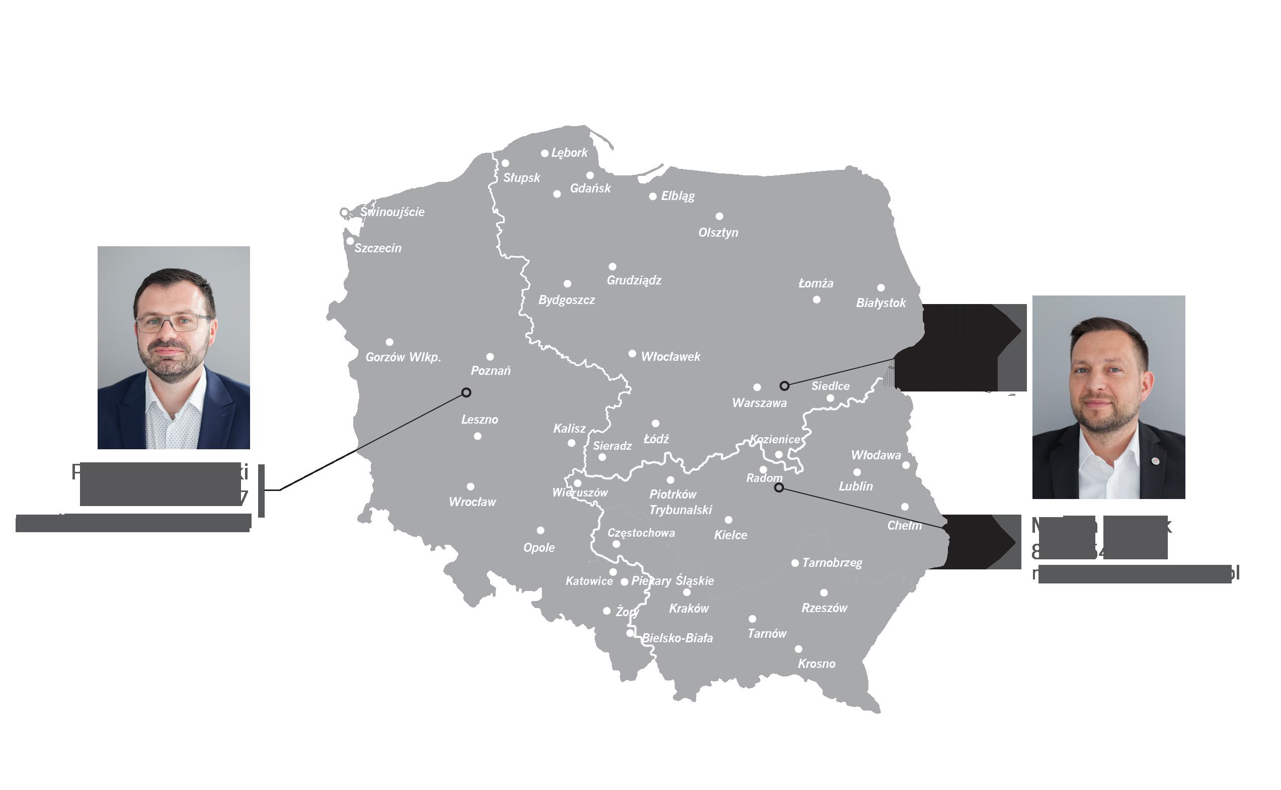 Mapa regionów handlowych